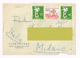 1954 - Germania - - Sudwestfunk Baden Baden  - Storia Postale - Lettres & Documents