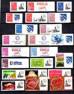 France Belle Collection De Timbres Personnalisés Adhésifs Neufs ** MNH 2004/2007. Bonnes Valeurs. TB. A Saisir! - Personalizzati