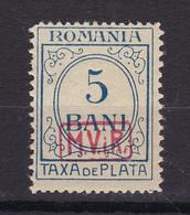 Militärverwaltung In Rumänien - Portomarken - 1918 - Michel Nr. 1 - Postfrisch - 170 Euro - Occupation 1914-18