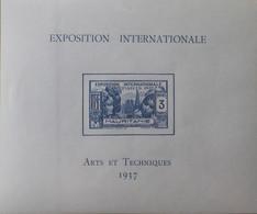 """R2452/235 - 1937 - EXPO INTERNATIONALE """" ARTS Et TECHNIQUES """" De PARIS  - COLONIES FR. - MAURITANIE - BLOC N°1 NEUF* - Neufs"""