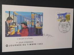 Enveloppe Journée Du Timbre Vauclerc Signé Dessin De Roland Irolla 1992 Timbre N° 2743 - 1990-1999