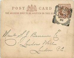 UK. CP P 10 B (Mi) Cardiff > London   23/6/96  Sq. C.  C/056  I CT    Trou D'archive - Postmark Collection