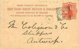 UK. CP P 26 (Mi) Coventry > Antwerpen 21/9/94 Sq. C.  C/242 II SC  Trous D'aiguille, Léger Pli - Postmark Collection