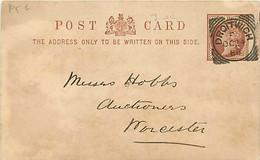 UK. CP P 5 B Mi)  Droitwich > Worcester  24/10/88  Sq. C.  D/110  I  SC   Trou D'archive - Postmark Collection