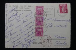 FRANCE - Taxes De La Poste Restante De Lisieux Sur Carte Postale En 1957 - L 90465 - Lettres Taxées