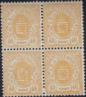 Luxembourg - Luxemburg - Timbres 1875  Armoires  40C. MNH**  4er Block - Blokken & Velletjes