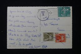 FRANCE - Taxes ( Annulé ) De Tresserve Sur Carte Postale De Suisse En 1962 - L 90467 - Lettres Taxées
