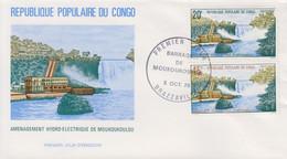 Enveloppe  FDC  1er  Jour   CONGO    Aménagement  Hydro - Electrique  De    MOUKOUKOULOU    1979 - FDC