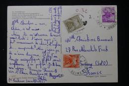 FRANCE - Taxes De Taverny Sur Carte Postale D'Italie En 1964 - L 90468 - Lettres Taxées