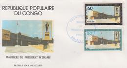 Enveloppe  FDC  1er  Jour   CONGO    Mausolée  Du   Président   N' GOUABI    1983 - FDC
