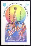 Argentina Hoja Bloque Nº Yvert 45 ** BALONCESTO (BASKETBALL) - Blocs-feuillets