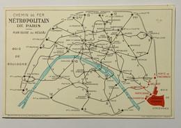 75 - PARIS :CARTE DU MÉTROPOLITAIN à L' EXPOSITION COLONIALE. - Metro, Estaciones