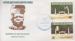 Enveloppe  FDC  1er  Jour   CONGO    Mausolée  Du   Roi  MALOANGO    1981 - FDC