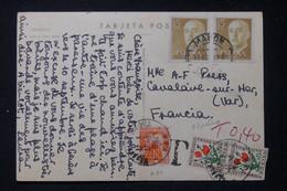 FRANCE - Taxes De Cavalaire / Mer Sur Carte Postale D'Espagne En 1964 - L 90471 - Lettres Taxées