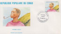 Enveloppe  FDC  1er  Jour   CONGO    Paysanne   D' ABALA    1979 - FDC