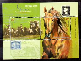Argentina Hoja Bloque Nº Yvert 74 **  CABALLOS (HORSES) - Blocs-feuillets