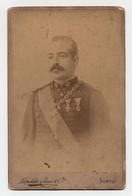 Fotografia Antiga Autografada Dr. Souza Garcez Em Uniforme Militar - Oorlog, Militair