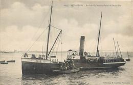CPA 56 Morbihan Morbihan > Quiberon Arrivée Du Bateau Poste De Belle Isle - Quiberon