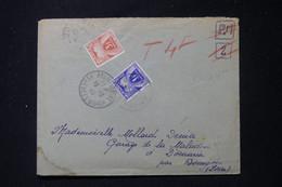 FRANCE - Taxes De Bourgoin Sur Enveloppe De Angoustrine En 1945 ( Mention FM Refusé ) - L 90472 - Lettres Taxées