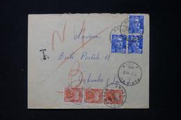 FRANCE - Taxes De Colombes Sur Enveloppe En Pneumatique De Paris En 1952 - L 90476 - Lettres Taxées