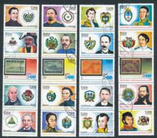 1988 Cuba, Y&T 2879/2898 Oblitérés, Personnages Historiques Latinoaméricains - Non Classés