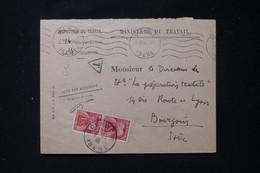 FRANCE - Taxes De Bourgoin Sur Enveloppe Du Ministère Du Travail En 1946 - L 90477 - Lettres Taxées