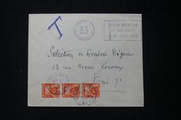FRANCE - Taxes De Paris Sur Enveloppe De Paris En 1955 - L 90478 - Lettres Taxées