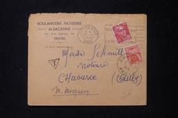 FRANCE - Taxe De Chaource Sur Enveloppe Commerciale De Troyes En 1949 - L 90479 - Lettres Taxées