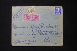 FRANCE - Taxes De Sancergues Sur Enveloppe De Port De Piles En 1957- L 90480 - Lettres Taxées