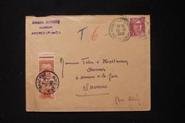 FRANCE - Taxes De Saverne Sur Enveloppe De Ardres En 1948 - L 90481 - Lettres Taxées