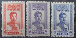 R2452/245 - 1941 - COLONIES FR. - INDOCHINE - N°224 à 226 NEUFS* - Ungebraucht
