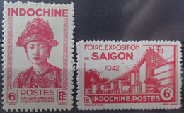 R2452/247 - 1942 - COLONIES FR. - INDOCHINE - N°230 à 231 NEUFS* - Ungebraucht
