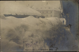 Photo CPA Mariazell Steiermark Österreich, Schneemassen Im Winter 1905, Hotel Zum Goldenen Löwen - Other