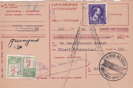 Carte Récépissé Roulette Retour Terug Impayé Onbetaald 693 Timbre Fiscal - Cartas