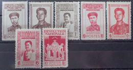 R2452/248 - 1943/1944 - COLONIES FR. - INDOCHINE - N°236 à 242 NEUFS* - Ungebraucht