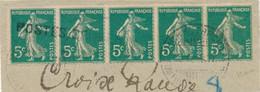 SEMEUSE 137 OBL POSTES SERBES - BANDE De 5 + CàD SERBE CORFOU POSTES MILITAIRES SERBES 1917  WW1 - 1921-1960: Modern Period