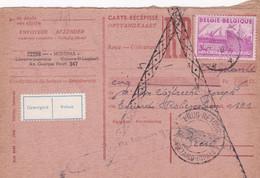 Carte Récépissé Roulette Retour Terug Impayé Onbetaald 770 Vignette Geweigerd Refusé - Cartas