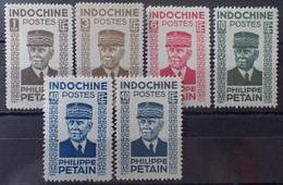 R2452/249 - 1943/1944 - COLONIES FR. - INDOCHINE - N°243 à 248 NEUFS* - Ungebraucht