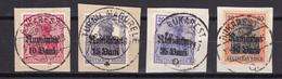 Militärverwaltung In Rumänien - 1918 - Michel Nr. 9/12 - Briefst. - 35 Euro - Bezetting 1914-18