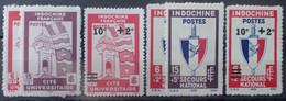R2452/252 - 1943/1944 - COLONIES FR. - INDOCHINE - N°278 à 282 NEUFS* - Ungebraucht