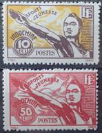 R2452/253 - 1944 - COLONIES FR. - INDOCHINE - N°284 à 285 NEUFS* - Ungebraucht
