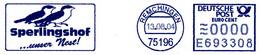Freistempel Kleiner Ausschnitt 395 Sperling Spatz Vogel - Marcofilia - EMA ( Maquina De Huellas A Franquear)