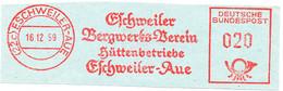 Freistempel Kleiner Ausschnitt 459 Eschweiler Bergwerks Verein Hüttenbetriebe - Affrancature Meccaniche Rosse (EMA)