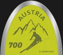 Austria 2020 Autriche Sport SKI TIPS Mountain  Genuine Ski Coating  Forme Spatule Ski 1v Mnh - 2011-... Nuevos & Fijasellos