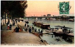 92 ASNIERES - La Seine Et Le Ponton Du Bateau Passeur - Asnieres Sur Seine