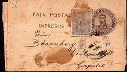 Argentina - Circa 1910 - Faja Postal - Bande Postale - General San Martin - 2 Ctv - A1RR2 - Briefe U. Dokumente