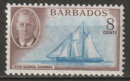 Barbados 1950 Sc 221  MNH** - Barbados (...-1966)