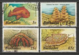 Barbados 1985 Sc 642//653  Partial Set 4 Values Used - Barbades (1966-...)