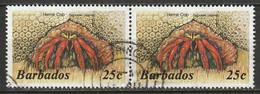 Barbados 1985 Sc 646  Pair Used - Barbades (1966-...)