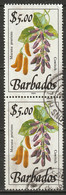 Barbados 1990 Sc 767b  Pair Used - Barbades (1966-...)